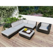 Beach Grove Park Terrace 6 Piece Deep Seating Group with Cushions