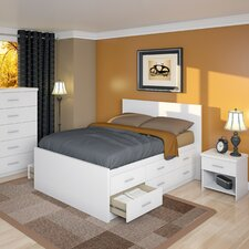 <strong>dCOR design</strong> Willow Captain's Storage Platform 3 Piece Bedroom Collection