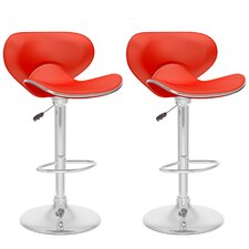 CorLiving Curved Form Fitting Adjustable Barstool (Set of 2)