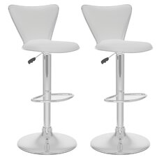 CorLiving Tall Curved Back Adjustable Barstool (Set of 2)