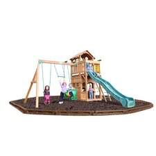 Madison Swing Set with Rubber Mulch