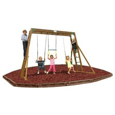 Classic Top Ladder Swing Set with Rubber Mulch