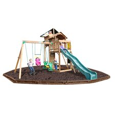Auburn Hills Swing Set with Rubber Mulch