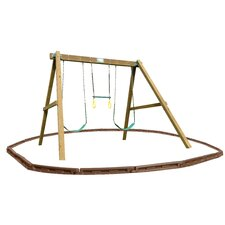 Classic Swing Beam Swing Set with Play Zone Components