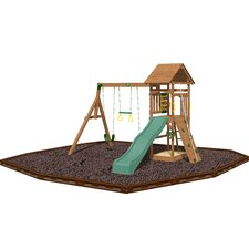 Riviera Swing Set with Rubber Mulch