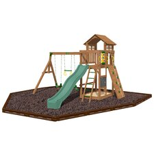 Seminole Swing Set with Rubber Mulch