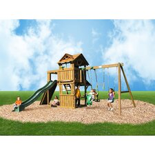 Cambridge Swing Set with Swing Beam and Chained Accessories