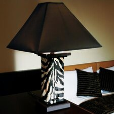 "Savana 24.8"" H Table Lamp with Square Shade"