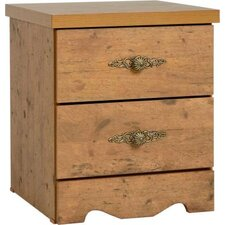 Cairo 2 Drawer Bedside Table