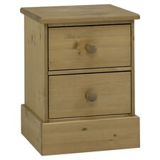 Dunedin 2 Drawer Bedside Table in Pine