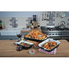 3 Piece Ceramic Roasting Pan Set