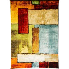 Impressionist Multi-coloured Rug