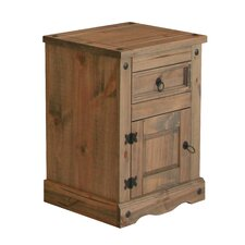 Corona 1 Drawer Bedside Table