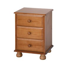 Sheraton 3 Drawer Bedside Table