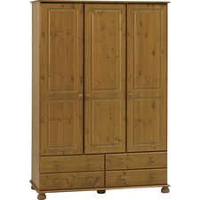 <strong>Home Essence</strong> Balham Three Doors and Four Drawers Wardrobe in Pine