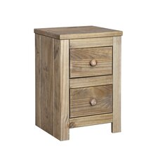Hacienda Petite 2 Drawer Bedside Table
