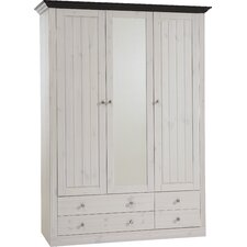 Riviera 3 Glazed Door 4 Drawer Wardrobe