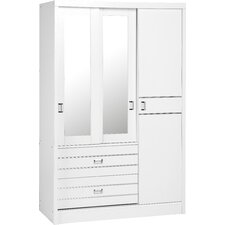 Jordan 3 Door 2 Drawer Sliding Wardrobe
