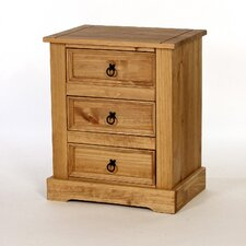 Windmill 3 Drawer Bedside Table