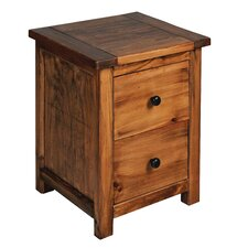 Denver 2 Drawer Bedside Table