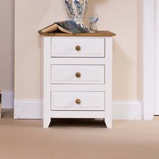 Capri 3 Drawer Bedside Table