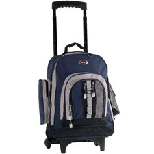 Awestruck Double Compartment Rolling Backpack