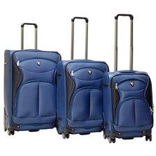 Sydney Expandable 3 Piece Spinner Luggage Set