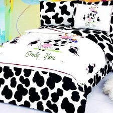 Happy Cow 4 Piece Twin Junior Duvet Cover Set
