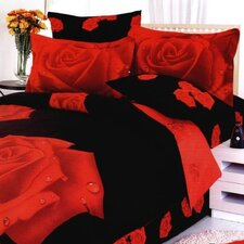 Night Rose Twin 4 Piece Duvet Cover Set