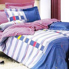 Jean 4 Piece Duvet Cover Set