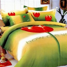 <strong>Le Vele</strong> Tulip 4 Piece Duvet Cover Set