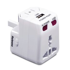 International Adapter Plug with USB