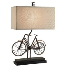 """Wine Country Biking 26.5"""" H Table Lamp with Rectangle Shade"""