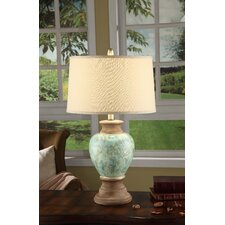 "Leona 28.25"" H Table Lamp with Drum Shade"