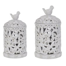 French Regent 2 Piece Birdsong Containers