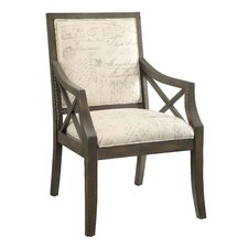 Driftwood French Script X-Arm Chair