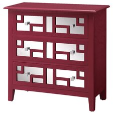 Roxy Bright 3 Drawer Mirrored Chest