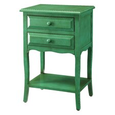 Kelly Emerald 2 Drawer End Table