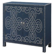 Indigo Cabinet with Nailhead