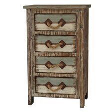 Nantucket 4 Drawer Weathered Wood Chest