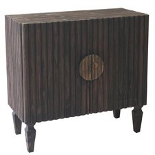 Dakota 2 Door Ribbed Wood Cabinet