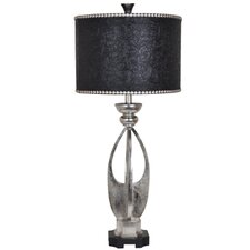 """Summit Carlton 34.5"""" H Table Lamp with Drum Shade"""