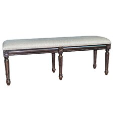 The Hampton Linen Accent Bedroom Bench