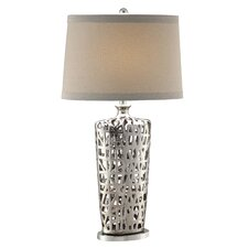 """Flat Weave 34"""" H Table Lamp with Empire Shade"""