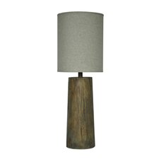 """Refined Tree Trunk 37"""" H Table Lamp with Oval Shade"""