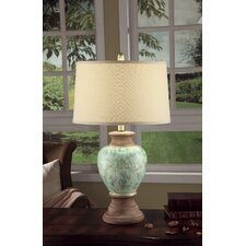 "Leona 28.25"" H Table Lamp with Empire Shade"