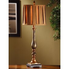 "Briston Buffet 34"" H Table Lamp with Drum Shade"