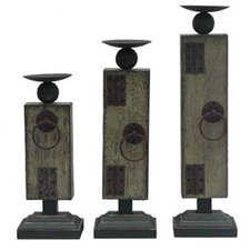 Industria Metal Candlesticks (Set of 3)