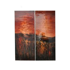 Prado Sunset 2 Peice Painting Print on Canvas Set (Set of 2)