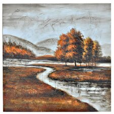 Winding Creek Painting Print on Canvas